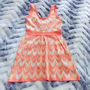 Wow Couture Fit and Flare Neon Dress